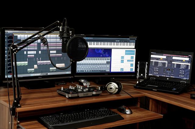 ציוד דיגיטלי באולפן הקלטות